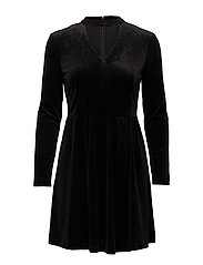 onlMANDY 7/8 CHOKER VELVET DRESS WVN - BLACK