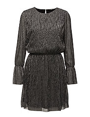 onlYADE CIRCULAR L/S DRESS WVN - BLACK