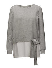 onlANCONA L/S O-NECK MIX SWT - LIGHT GREY MELANGE