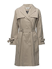 onlCAMELIA LONG TRENCH COAT OTW - FEATHER GRAY