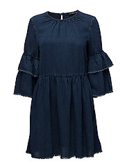 onlFLYNN RAW EDGE DNM DRESS QYT - DARK BLUE DENIM