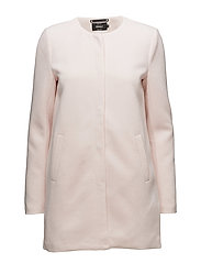 onlSIDNEY LIGHT COAT OTW NOOS - ROSE QUARTZ