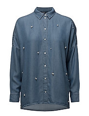 onlDRAGON PEARL LYOCELL SHIRT QYT - MEDIUM BLUE DENIM