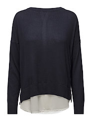 onlROSANA SHEN L/S MIX PULLOVER KNT - NIGHT SKY
