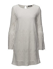 onlBELLA NEW LACE L/S  DRESS WVN - CLOUD DANCER