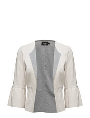 onlEVA BOND FAUX SUEDE FRILL JACKET OTW - MOONBEAM
