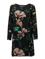 onlPATRICIA GROOVE 3/4 DRESS WVN - DARK GREEN