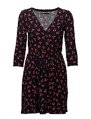 onlCHERRY 3/4 DRESS JRS - BLACK