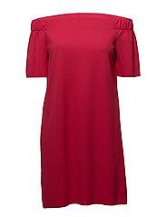 onlJOANA SS OFF SHOULDER DRESS JRS - ROSE RED
