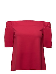 onlJOANA S/S OFF SHOULDER TOP JRS - ROSE RED