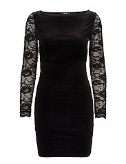 onlVALERIE BOATNECK DRESS JRS - BLACK