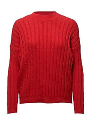 onlNEW LOUI L/S PULLOVER KNT - FLAME SCARLET