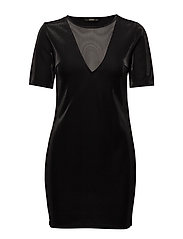 onlCADDY SHINY S/S DRESS JRS - BLACK
