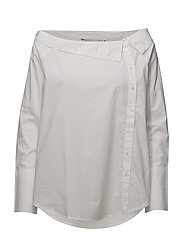 onlAMANDA L/S OFFSHOULDER SHIRT BOX WVN - BRIGHT WHITE