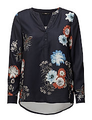 onlMALINA SHALLOW L/S TOP WVN - NIGHT SKY