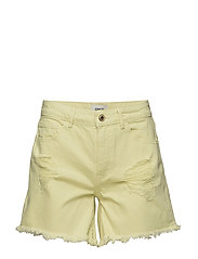 onlDIVINE COLOUR  DNM SHORTS NJ - YELLOW PEAR