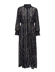 onlDITTE L/S CALF DRESS WVN - NIGHT SKY