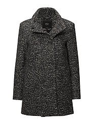 onlSOPHIA BOUCLE WOOL COAT CC OTW - DARK GREY MELANGE