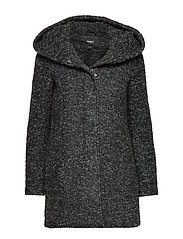 ONLSEDONA BOUCLE WOOL COAT OTW NOOS - BLACK