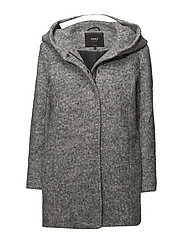 ONLSEDONA BOUCLE WOOL COAT OTW NOOS - LIGHT GREY MELANGE
