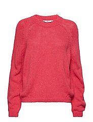 onlINA BALOON L/S  KNIT - ROSE RED