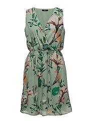 onlDIDA S/L SARAH DRESS WVN - GRANITE GREEN