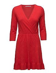 onlELSA 3/4 DRESS CC KNT - GOJI BERRY