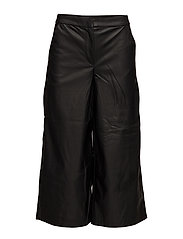 onlMANDY FAUX LEATHER CULOTTE PANT OTW - BLACK
