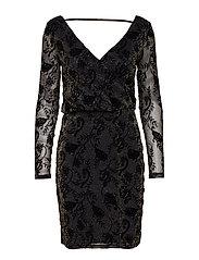 onlTAYLA L/S DRESS JRS - BLACK
