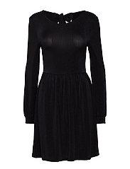 onlCOSMO L/S DRESS JRS - BLACK