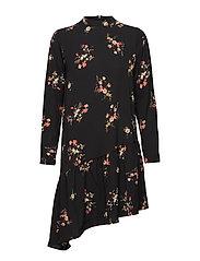 onlNOVA LUX AOP ELENA DRESS 2 WVN - BLACK