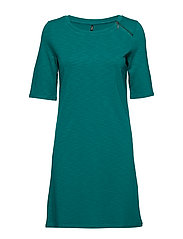 onlNADIA 2/4 SLEEVE DRESS JRS - CADMIUM GREEN