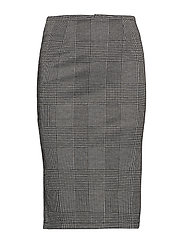 onlHANNI CHECK LONG SKIRT PNT - MEDIUM GREY MELANGE