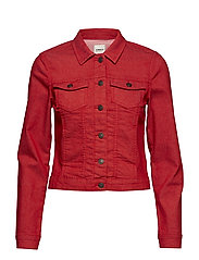 onlWESTA COLOR DENIM JACKET - GOJI BERRY