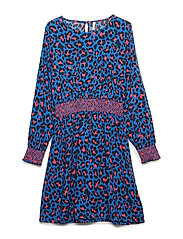 konIDA L/S AT KNEE  DRESS WVN - PRINCESS BLUE