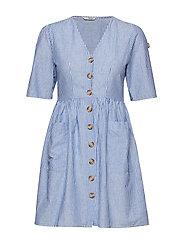 ONLTAMMY S/S DRESS WVN - INSIGNIA BLUE