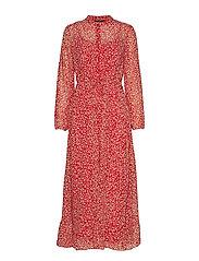 onlLUCIA DITZY LONG L/S DRESS WVN - MARS RED