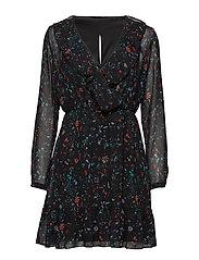 onlZIVA L/S DRESS WVN - BLACK
