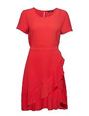 ONLNOVA LUX FRILL  DRESS SOLID 5  WVN - BITTERSWEET