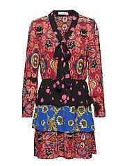 onlTALIA L/S SHORT DRESS WVN - CLOUD DANCER