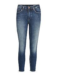 Onlblush Mid Sk Raw Ank Bb Rea4328 Skinny Jeans Blå ONLY