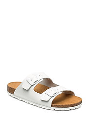ONLRAVI LEATHER SLIP ON - WHITE