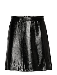 ONLBELLA GLAZED FAUX LEATHER SKIRT OTW - BLACK