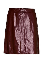 ONLBELLA GLAZED FAUX LEATHER SKIRT OTW - TAWNY PORT