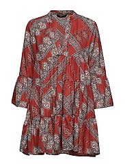 ONLDIANA ATHENA 3/4 DRESS WVN - ARABIAN SPICE