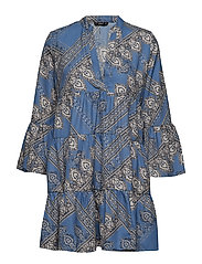 ONLDIANA ATHENA 3/4 DRESS WVN - BLUE HORIZON