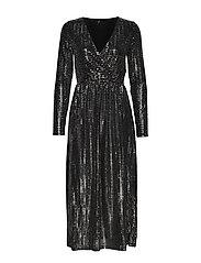 ONLREBECCA L/S GLITTER MAXI DRESS JRS - BLACK