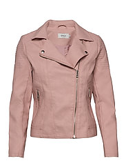 ONLMELANIE FAUX LEATHER BIKER CC OTW - KEEPSAKE LILAC