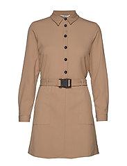 ONLLOTUS L/S SHORT DRESS WVN - BEIGE