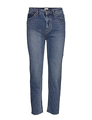 ONLEMILY HW ST RAW ANK MB MAE - MEDIUM BLUE DENIM